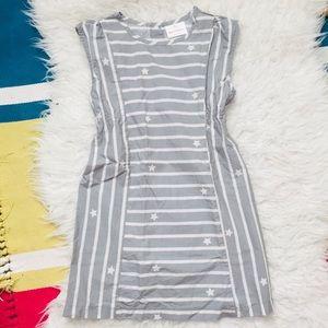 Hanna Gray White Stars Stripes Dress 120